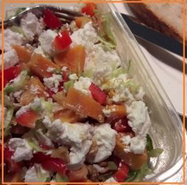 zoete aardappel geitenkaas salade